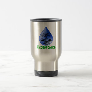 Hydroponics Black Bamboo Plant Green Text Coffee Mugs
