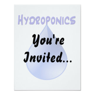 Hydroponics blue letters with blue drop graphic card