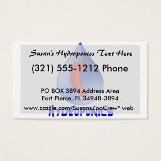 Hydroponics, chili pepper, blue text design business card