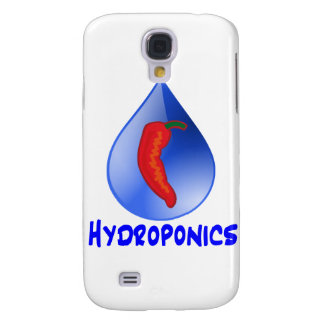 Hydroponics, chili pepper, blue text design galaxy s4 cover