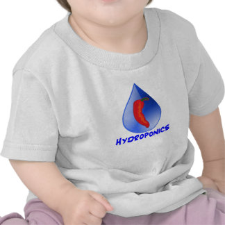 Hydroponics, chili pepper, blue text design shirt