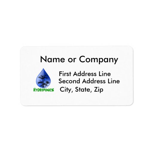 Hydroponics design-black bamboo address label