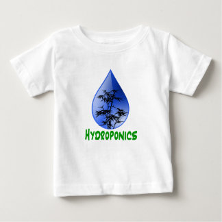 Hydroponics design-black bamboo baby T-Shirt