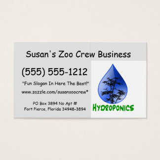 Hydroponics design-black bamboo business card