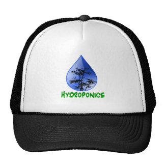 Hydroponics design-black bamboo hats