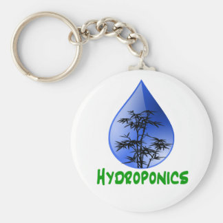 Hydroponics design-black bamboo key chain