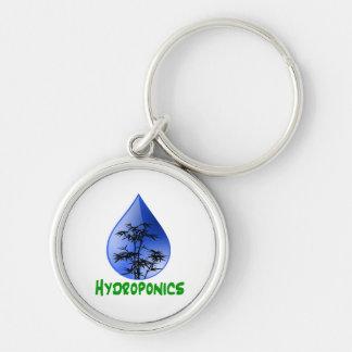 Hydroponics design-black bamboo key chains