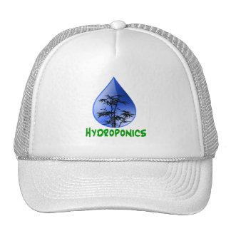 Hydroponics design-black bamboo mesh hat