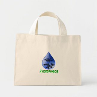 Hydroponics design-black bamboo mini tote bag