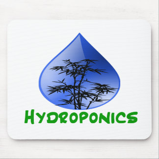 Hydroponics design-black bamboo mouse pads
