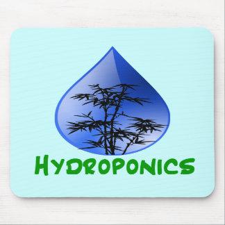 Hydroponics design-black bamboo mousepad
