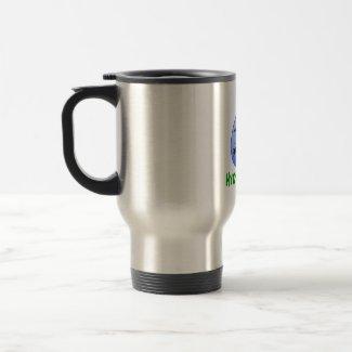 Hydroponics design-black bamboo mug