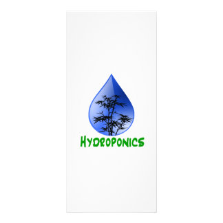 Hydroponics design-black bamboo personalized rack card