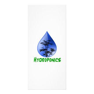 Hydroponics design-black bamboo rack card