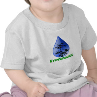 Hydroponics design-black bamboo tee shirts