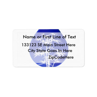 Hydroponics design , blue drop and white tree address label
