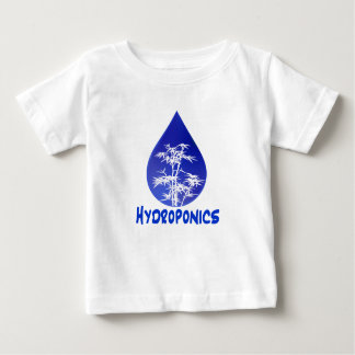 Hydroponics design , blue drop and white tree baby T-Shirt