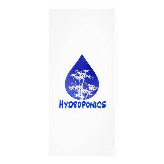 Hydroponics design , blue drop and white tree custom rack cards