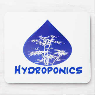 Hydroponics design , blue drop and white tree mousepads