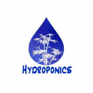 Hydroponics design , blue drop and white tree photo cutouts