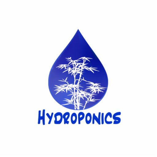 Hydroponics design , blue drop and white tree photo cut out