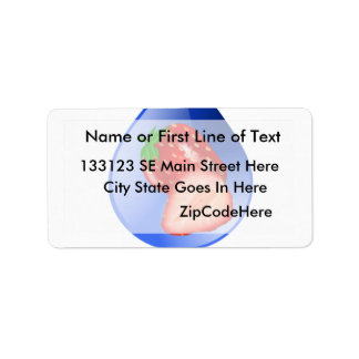 Hydroponics Design with strawberry Blue drop Address Label