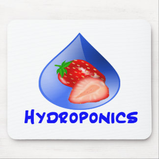 Hydroponics Design with strawberry Blue drop Mouse Pads