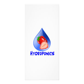 Hydroponics Design with strawberry Blue drop Rack Cards