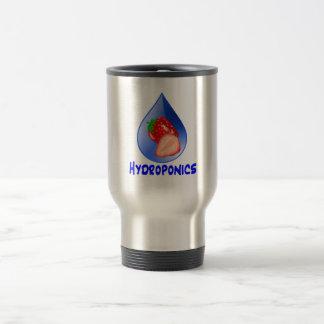 Hydroponics Design with strawberry Blue drop Travel Mug