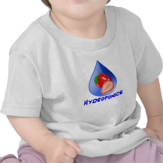 Hydroponics Design with strawberry Blue drop T Shirt