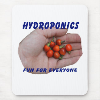 Hydroponics Fun Cascabel Hot Peppers Hand Mouse Pad