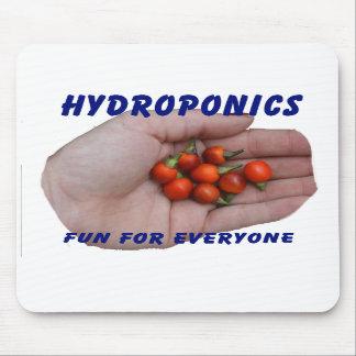 Hydroponics Fun Cascabel Hot Peppers Hand Mousepad
