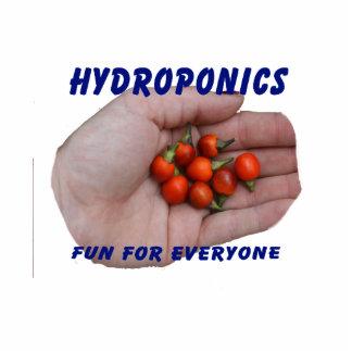 Hydroponics Fun Cascabel Hot Peppers Hand Photo Cutout