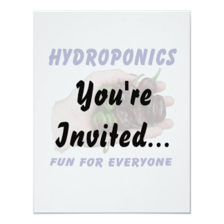 Hydroponics Fun Chocolate Habanero Peppers Card