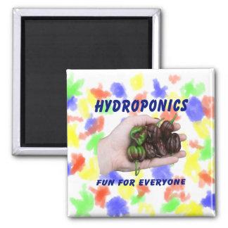 Hydroponics Fun Chocolate Habanero Peppers Fridge Magnet