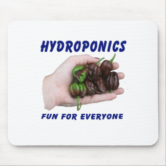 Hydroponics Fun Chocolate Habanero Peppers Mouse Pad