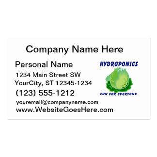Hydroponics Fun For Everyone Lettuce Design Business Card