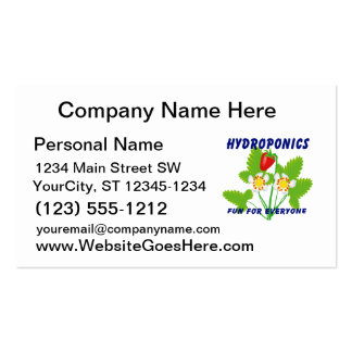 Hydroponics Fun For Everyone Strawberries Business Card