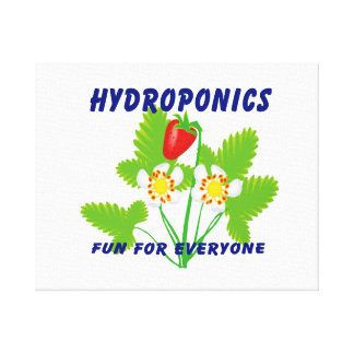 Hydroponics Fun For Everyone Strawberries Canvas Print