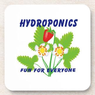 Hydroponics Fun For Everyone Strawberries Drink Coaster