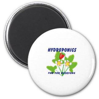 Hydroponics Fun For Everyone Strawberries Fridge Magnet