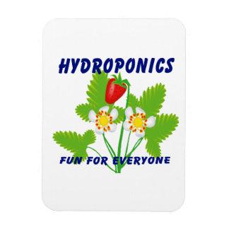 Hydroponics Fun For Everyone Strawberries Rectangular Magnets