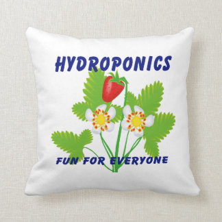 Hydroponics Fun For Everyone Strawberries Throw Pillow