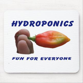 Hydroponics Fun Habanero Pepper Flame Fingers Mouse Pads