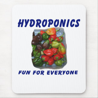 Hydroponics Fun Hot Pepper Pile Canvas Filter Mouse Pad