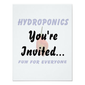 Hydroponics Fun Single Habanero Pepper Design Card