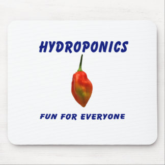 Hydroponics Fun Single Habanero Pepper Design Mouse Pad