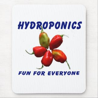 Hydroponics Fun Star Habanero Pepper Design Mouse Pad
