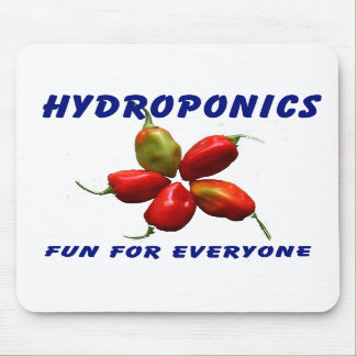 Hydroponics Fun Star Habanero Pepper Design Mousepads