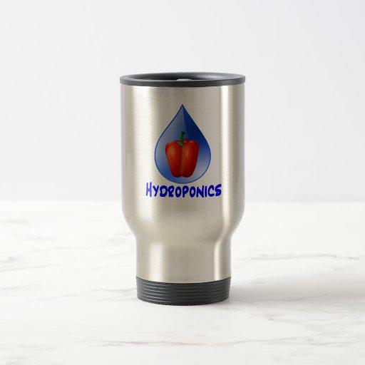 Hydroponics graphic, hydroponic pepper & drop coffee mugs